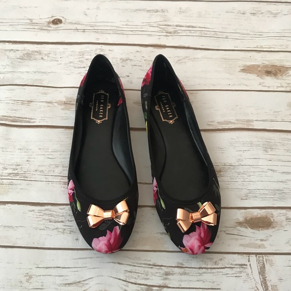 Ted Baker Floral Print Flats 8